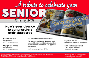 Place Your Senior Ad Today!